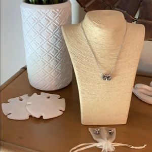 Lucky Brand Owl Necklace and Earrings Set